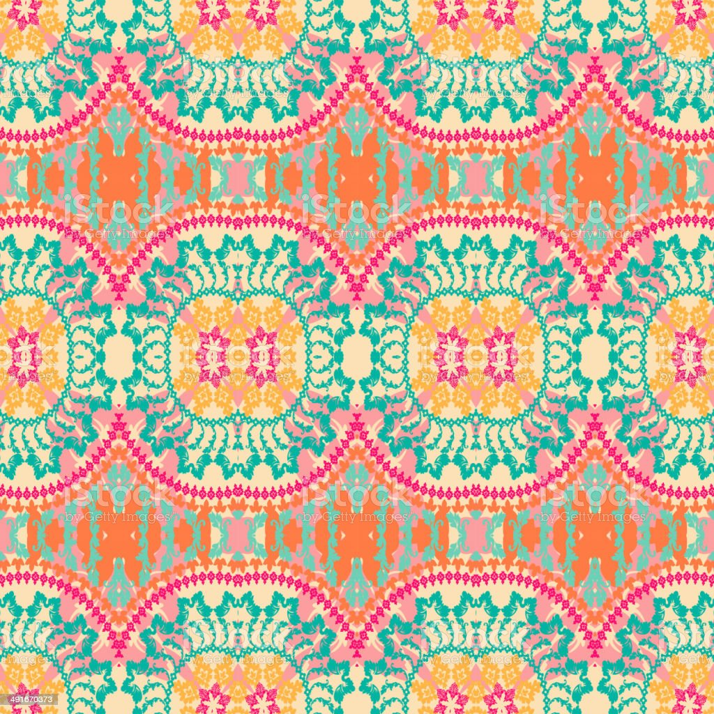 seamless pattern in ethnic style royalty-free stock vector art