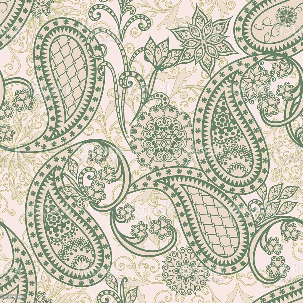 Seamless pattern in ethnic traditional style. vector art illustration