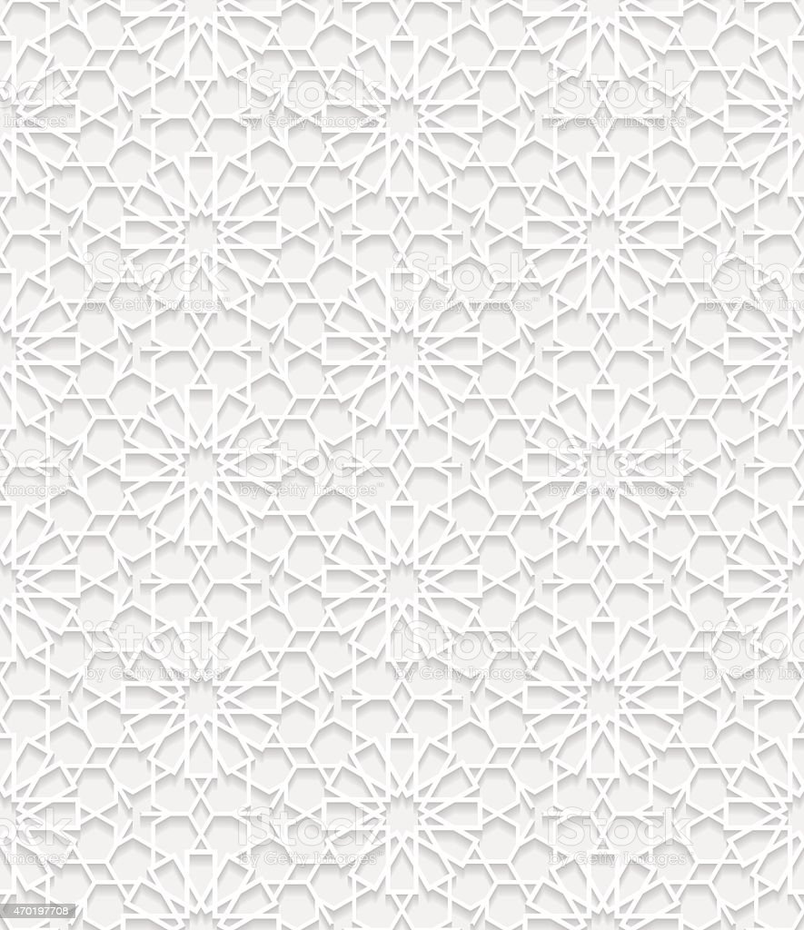 Seamless pattern in traditional style vector art illustration