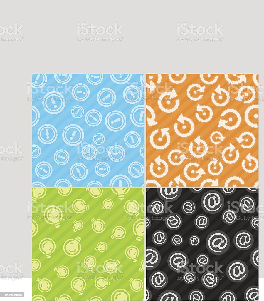 Seamless pattern - Internet royalty-free stock vector art
