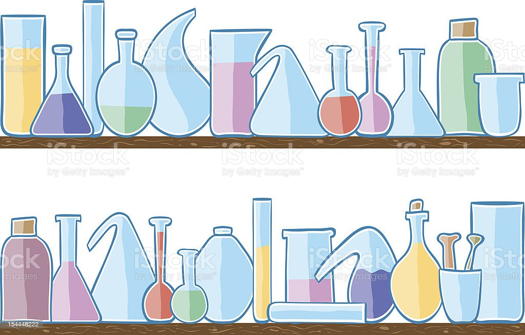 Seamless pattern laboratory glass royalty-free stock vector art