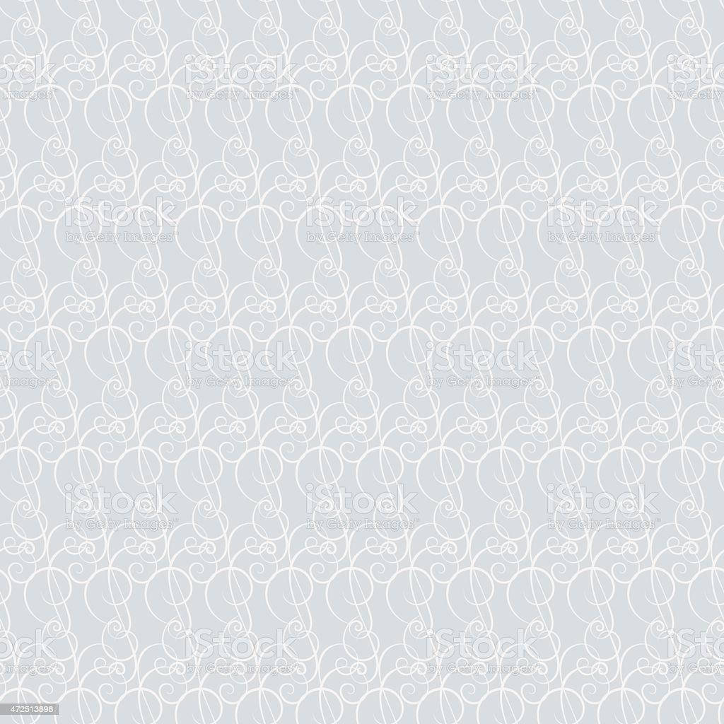 Seamless pattern Line design Wallpaper Grey vector art illustration