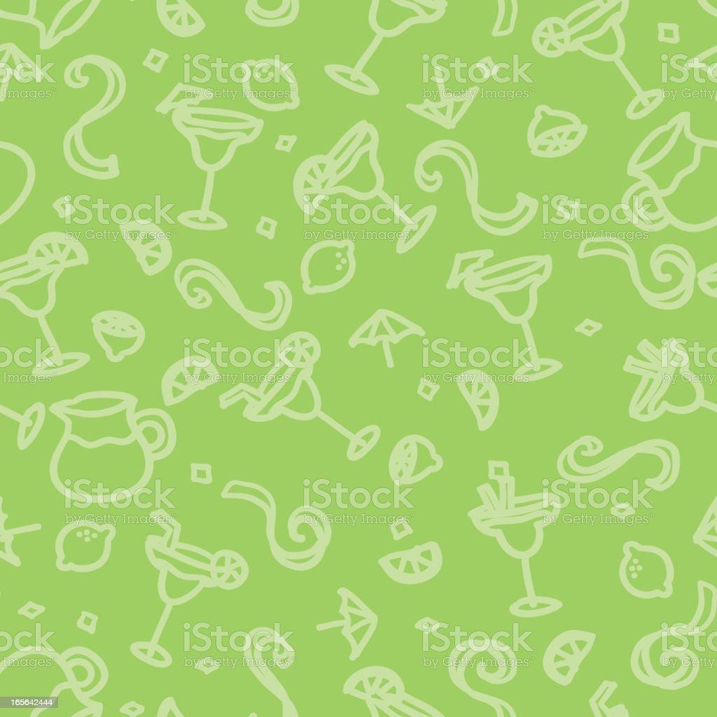 seamless pattern: margarita vector art illustration