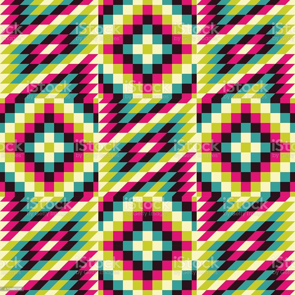 Seamless pattern. Mosaic. vector art illustration