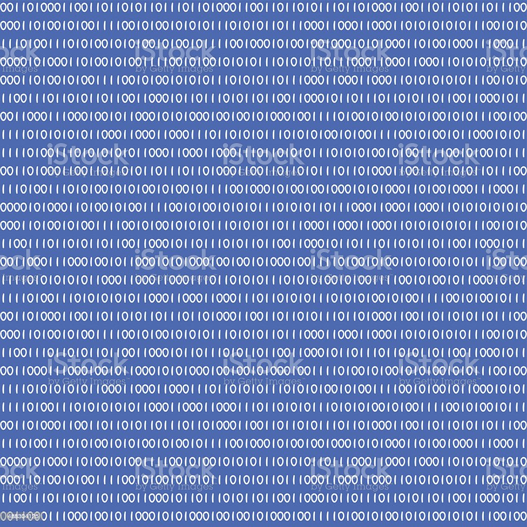 seamless pattern of an abstract binary background vector art illustration
