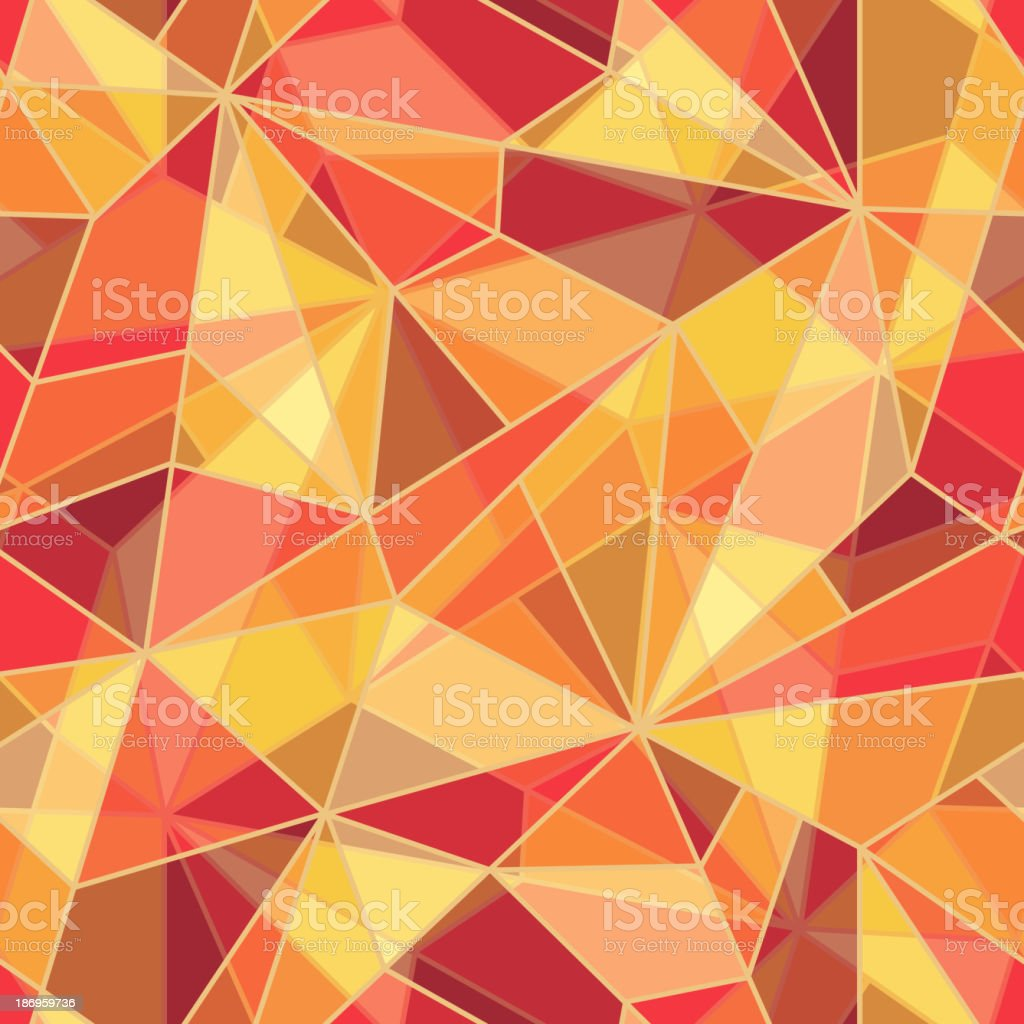 Seamless pattern of an orange and red mosaic vector art illustration