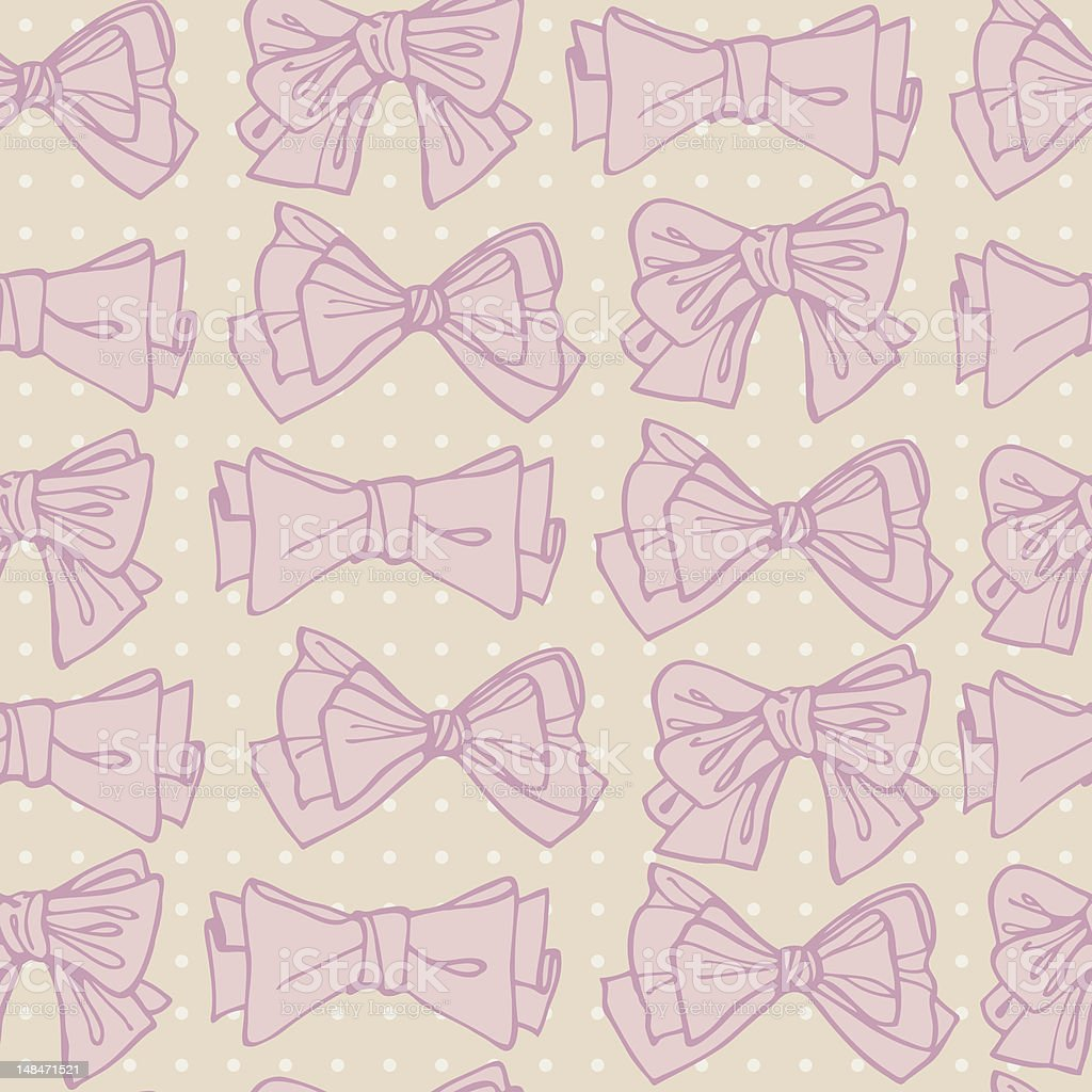 seamless pattern of bows royalty-free stock vector art