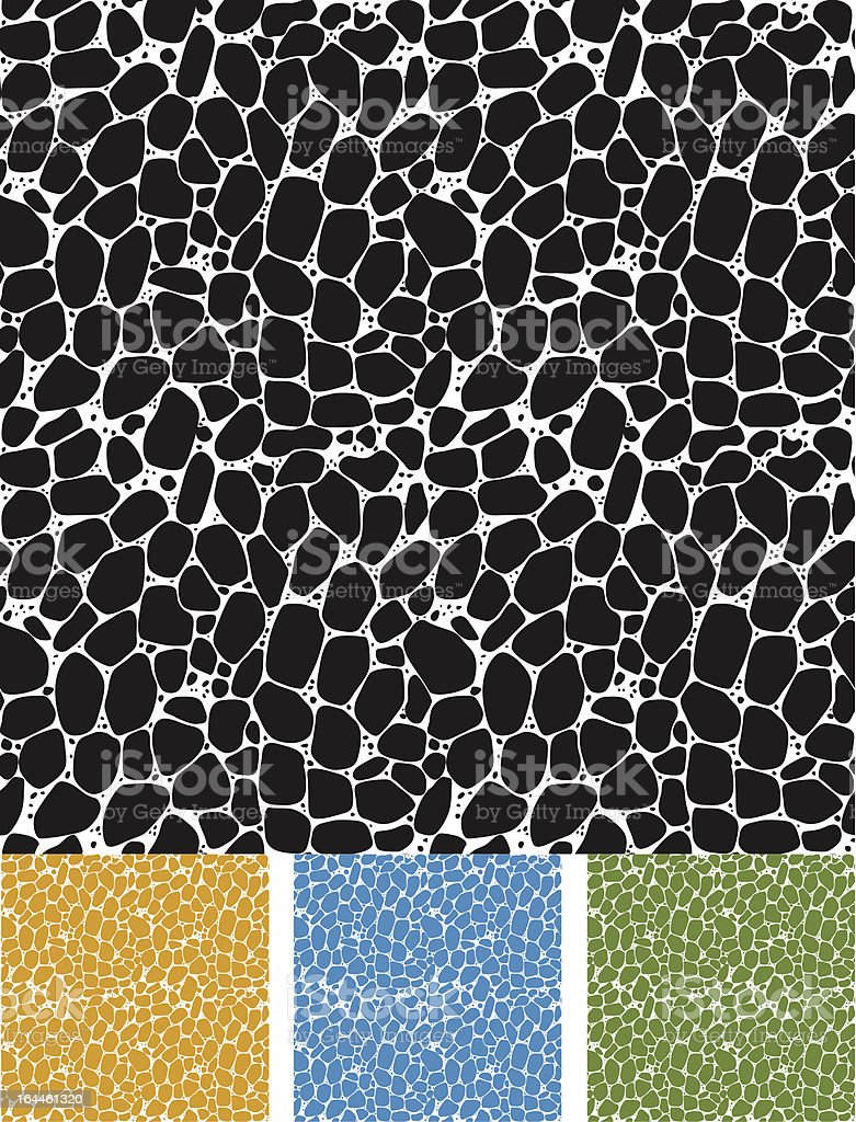Seamless pattern of cellular structure vector art illustration