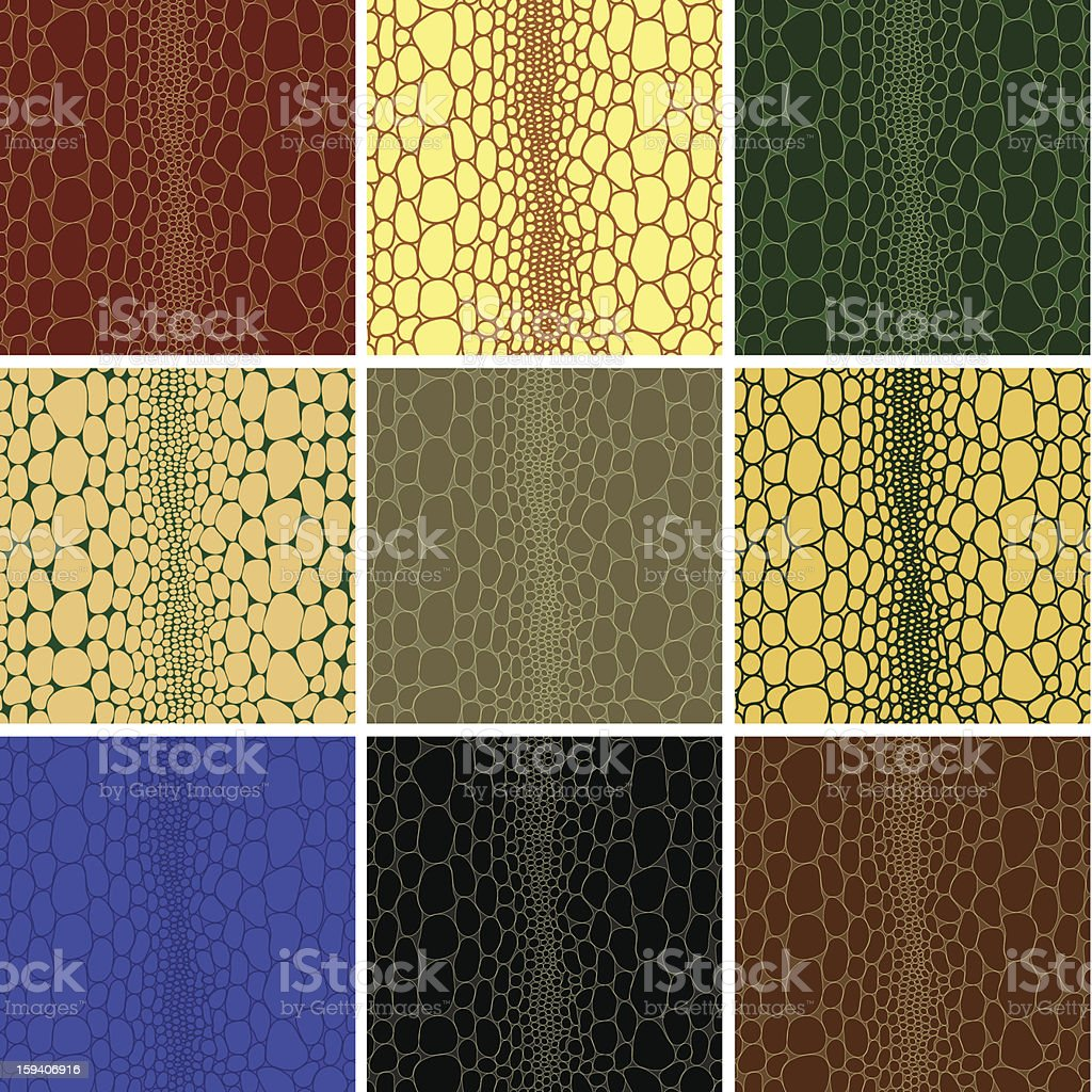 Seamless pattern of crocodile leather  texture. vector illustration. vector art illustration