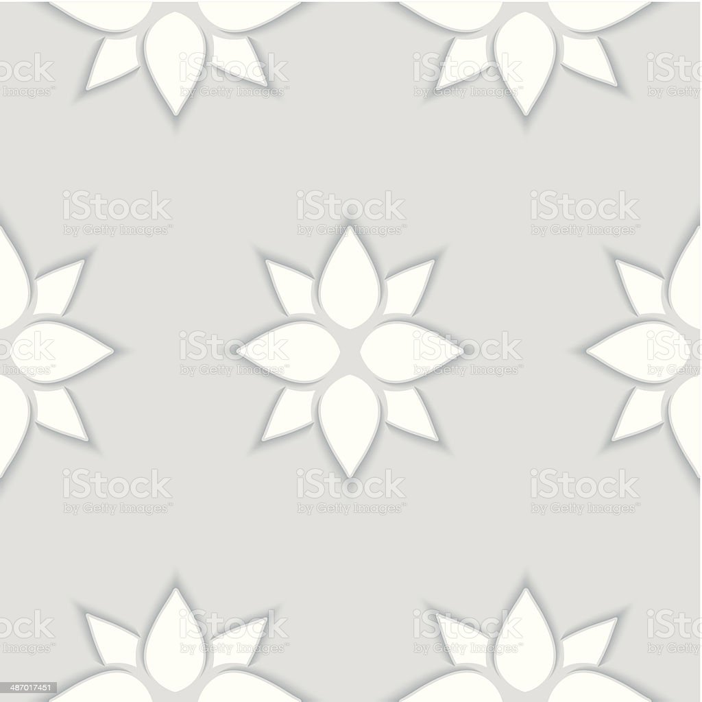 Seamless pattern of flowers 3D royalty-free stock vector art