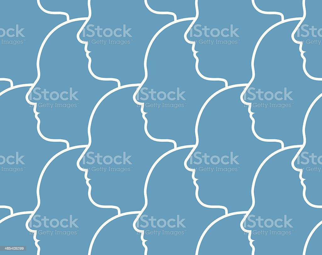 Seamless pattern of heads royalty-free stock vector art
