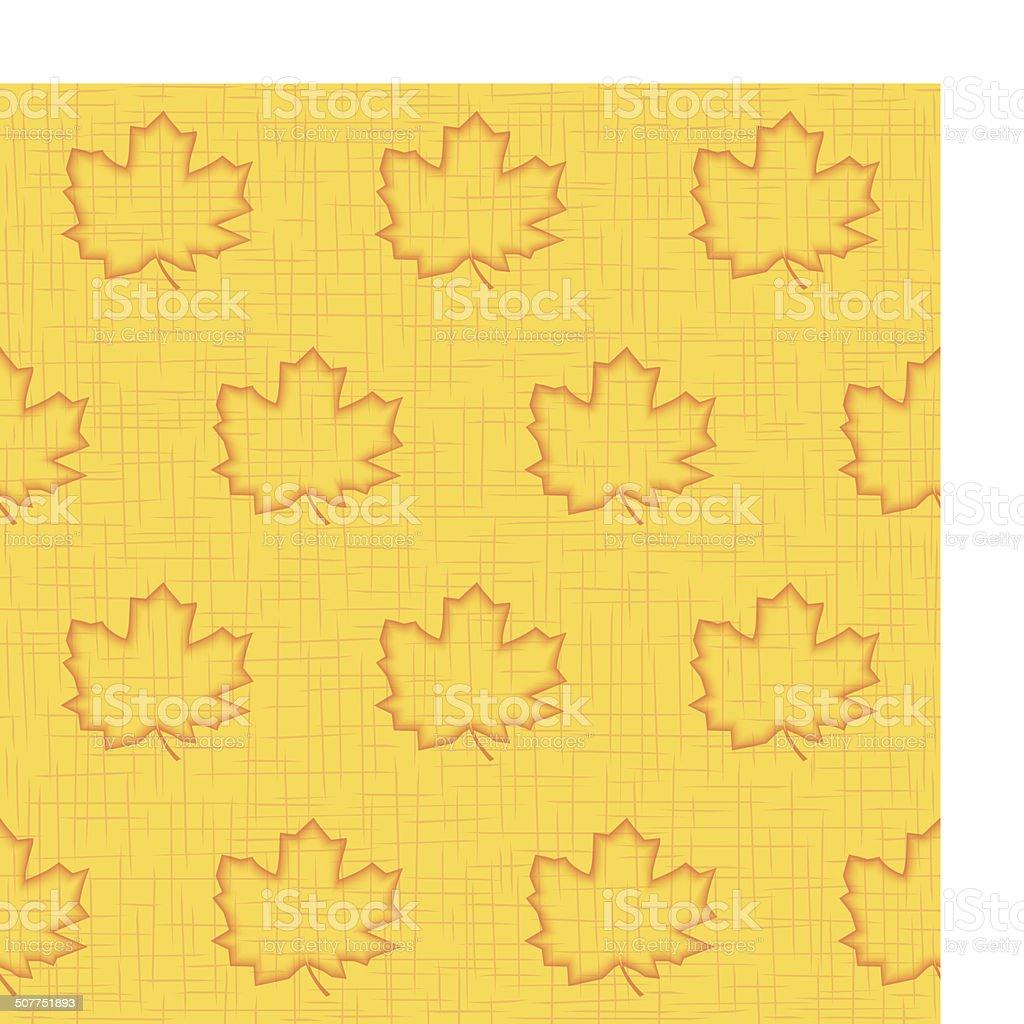 Seamless pattern of maple leaves vector art illustration