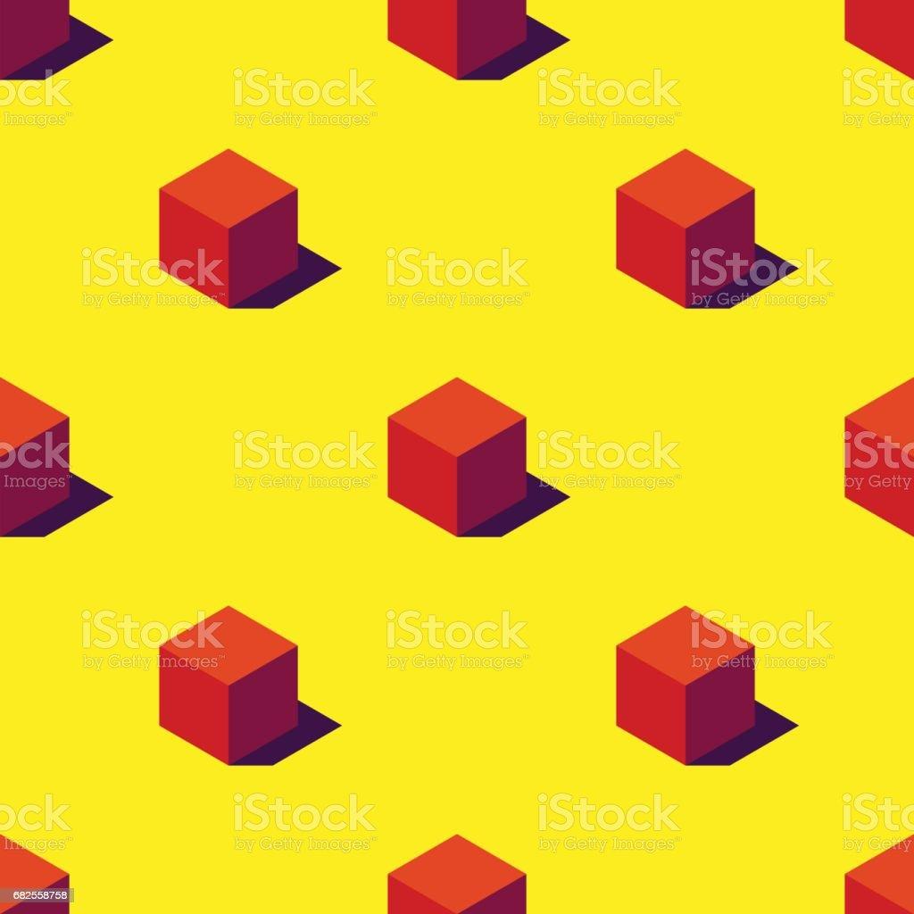 Seamless pattern of orange cubes. vector art illustration