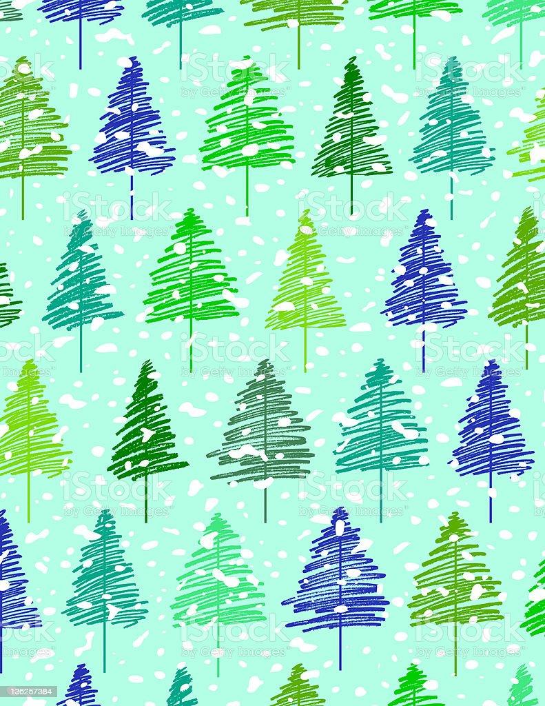 Seamless pattern of pinery royalty-free stock photo