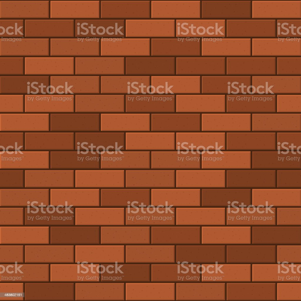 Seamless Pattern of Red Brick. Vector royalty-free stock vector art