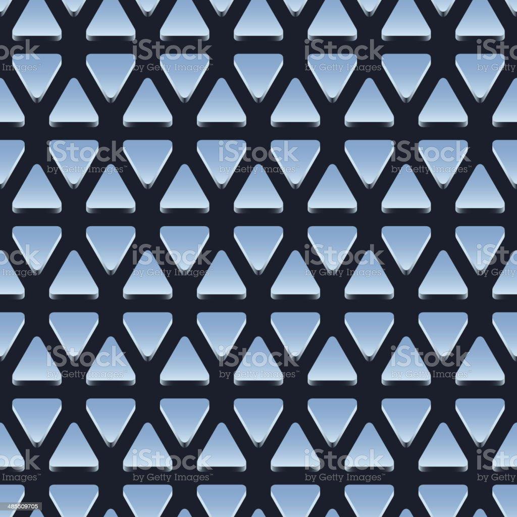 Seamless pattern of shiny metallic triangles royalty-free stock vector art