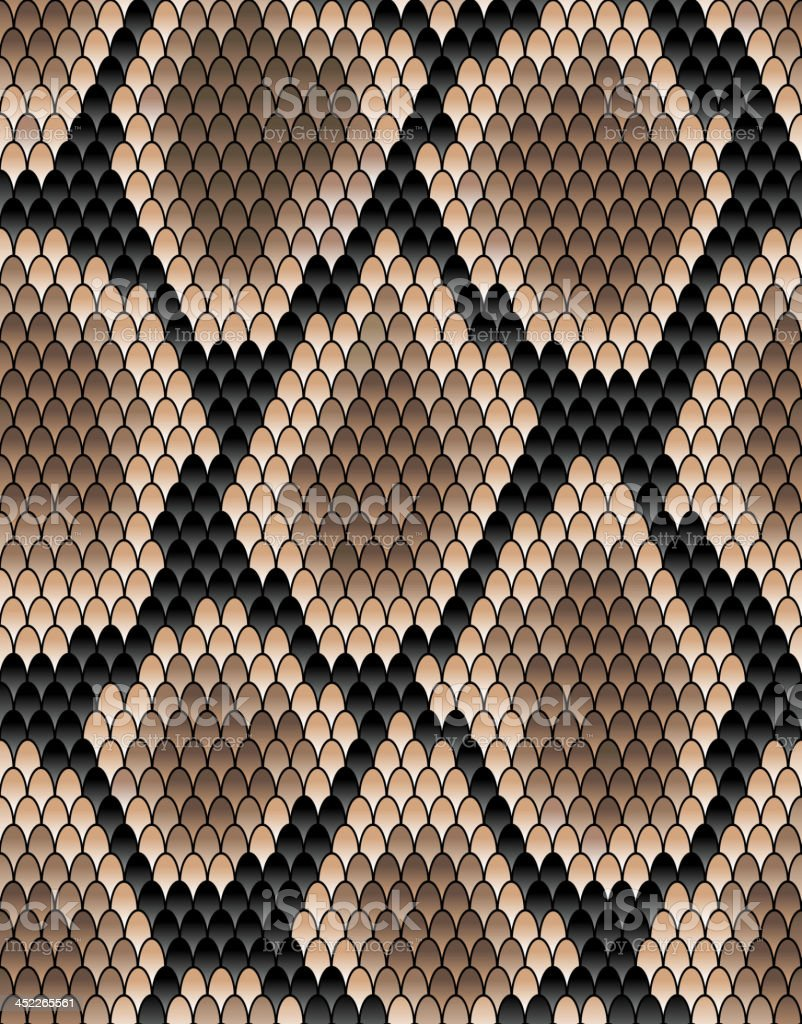 Seamless pattern of snake skin vector art illustration