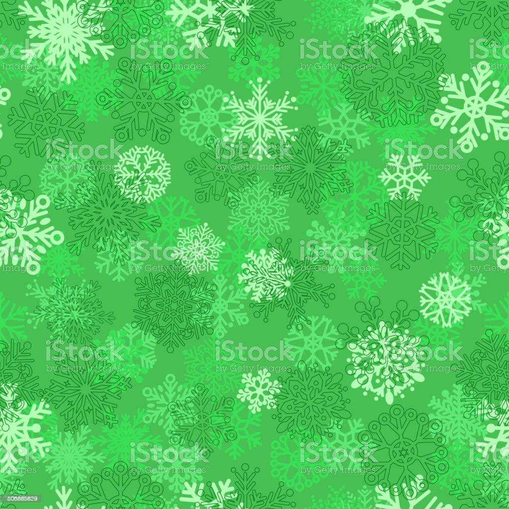 Seamless pattern of snowflakes vector art illustration
