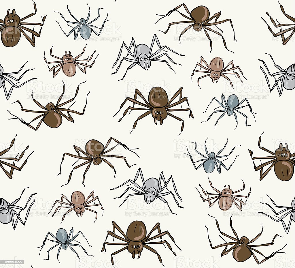 Seamless Pattern of  Spiders royalty-free stock vector art