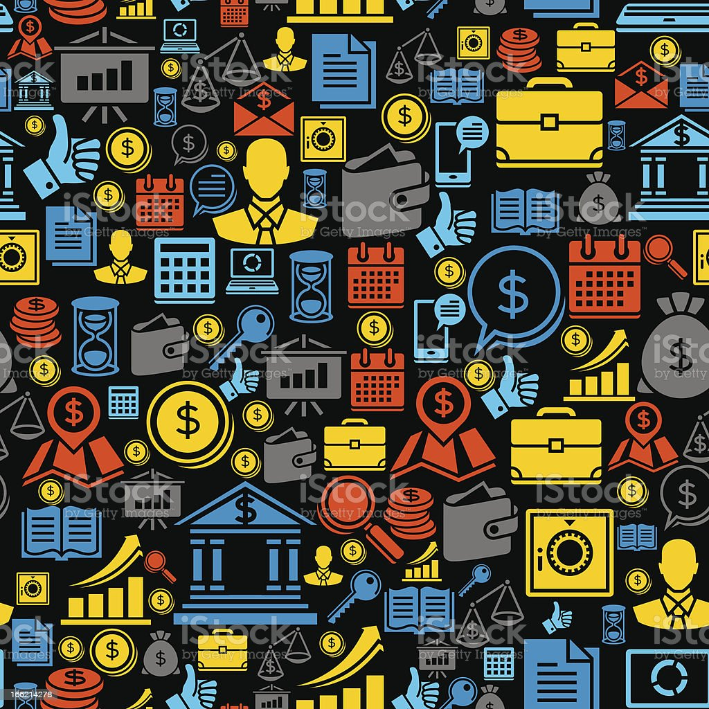 Seamless pattern of the business icons. royalty-free stock vector art