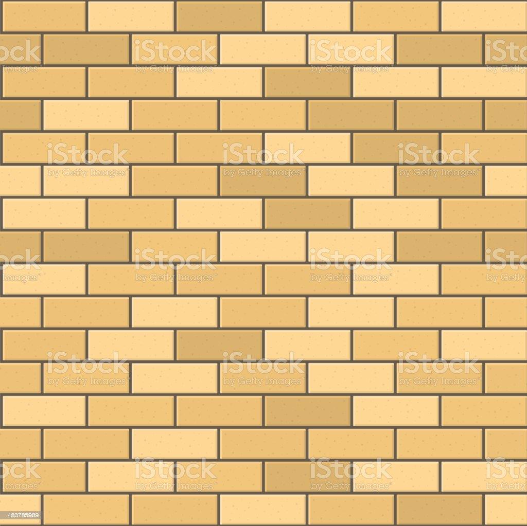 Seamless Pattern of Yellow Brick with Dark Seam. Vector royalty-free stock vector art