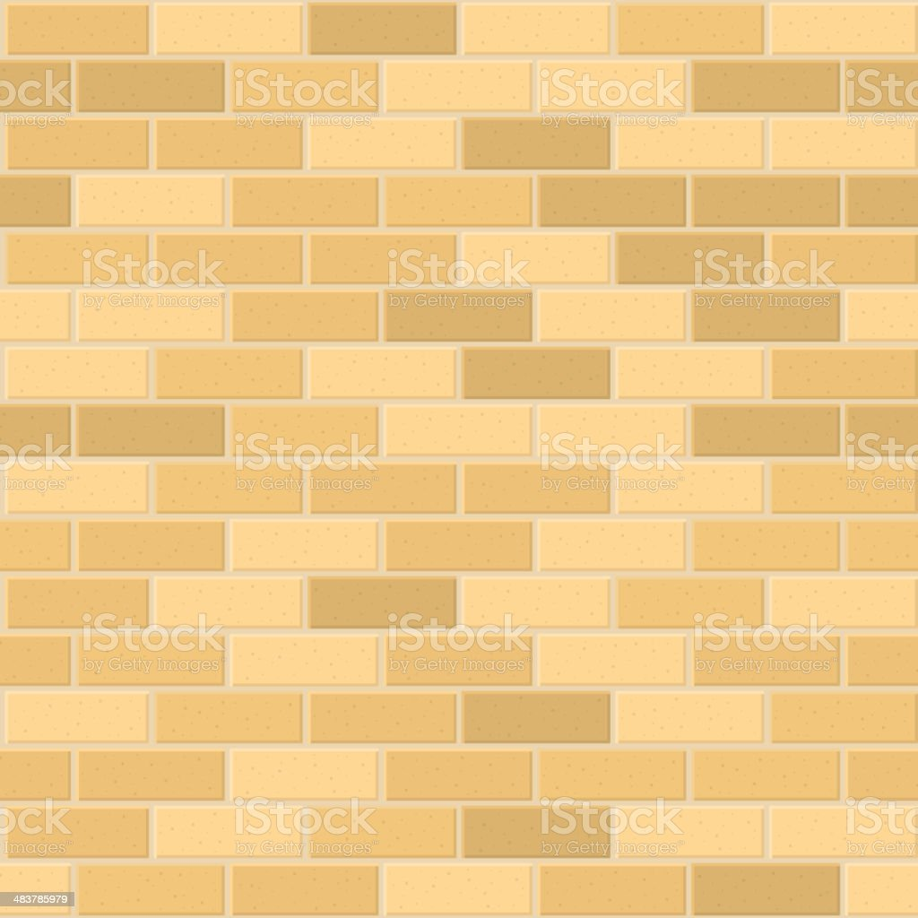 Seamless Pattern of Yellow Brick with Light Seam. Vector royalty-free stock vector art