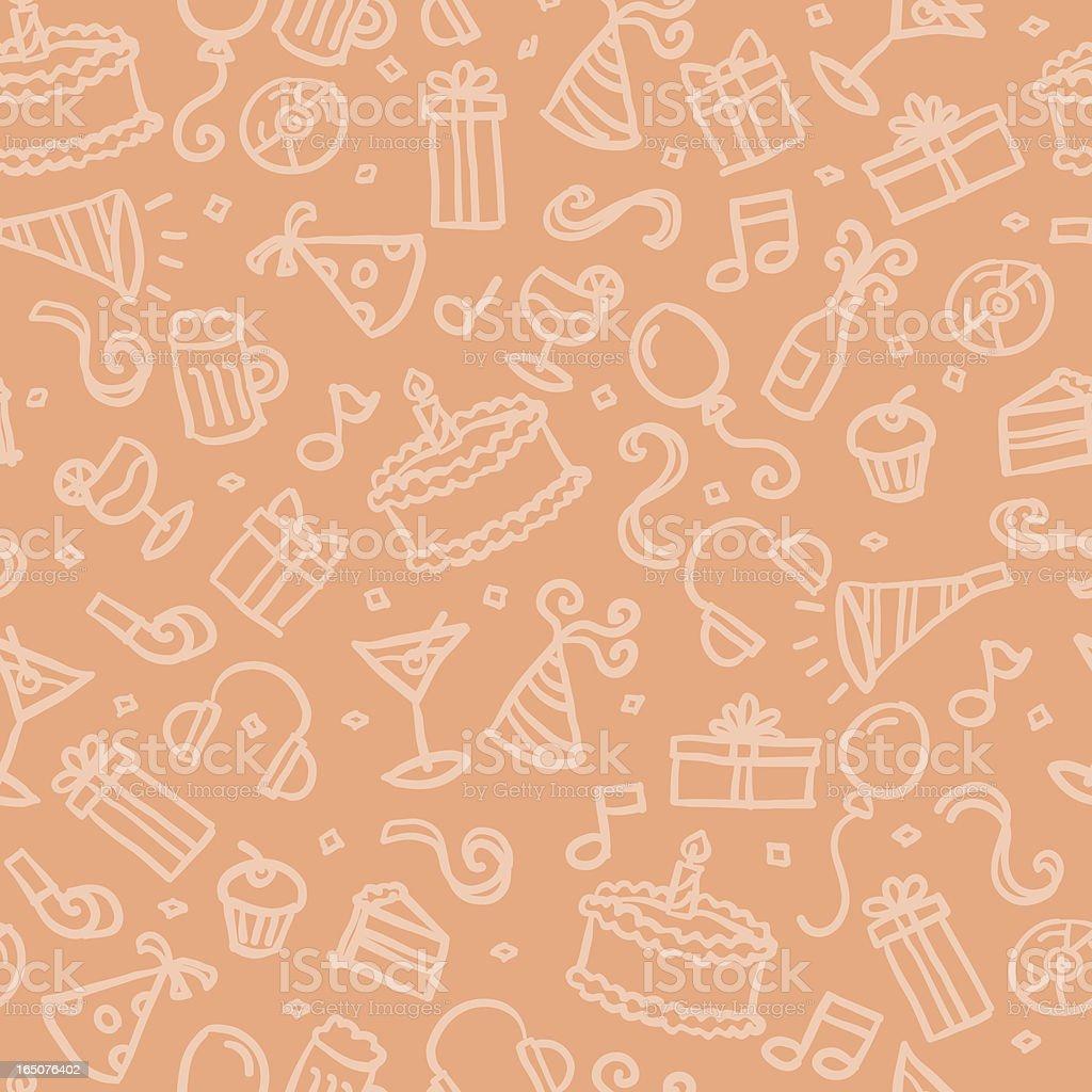 seamless pattern: party vector art illustration