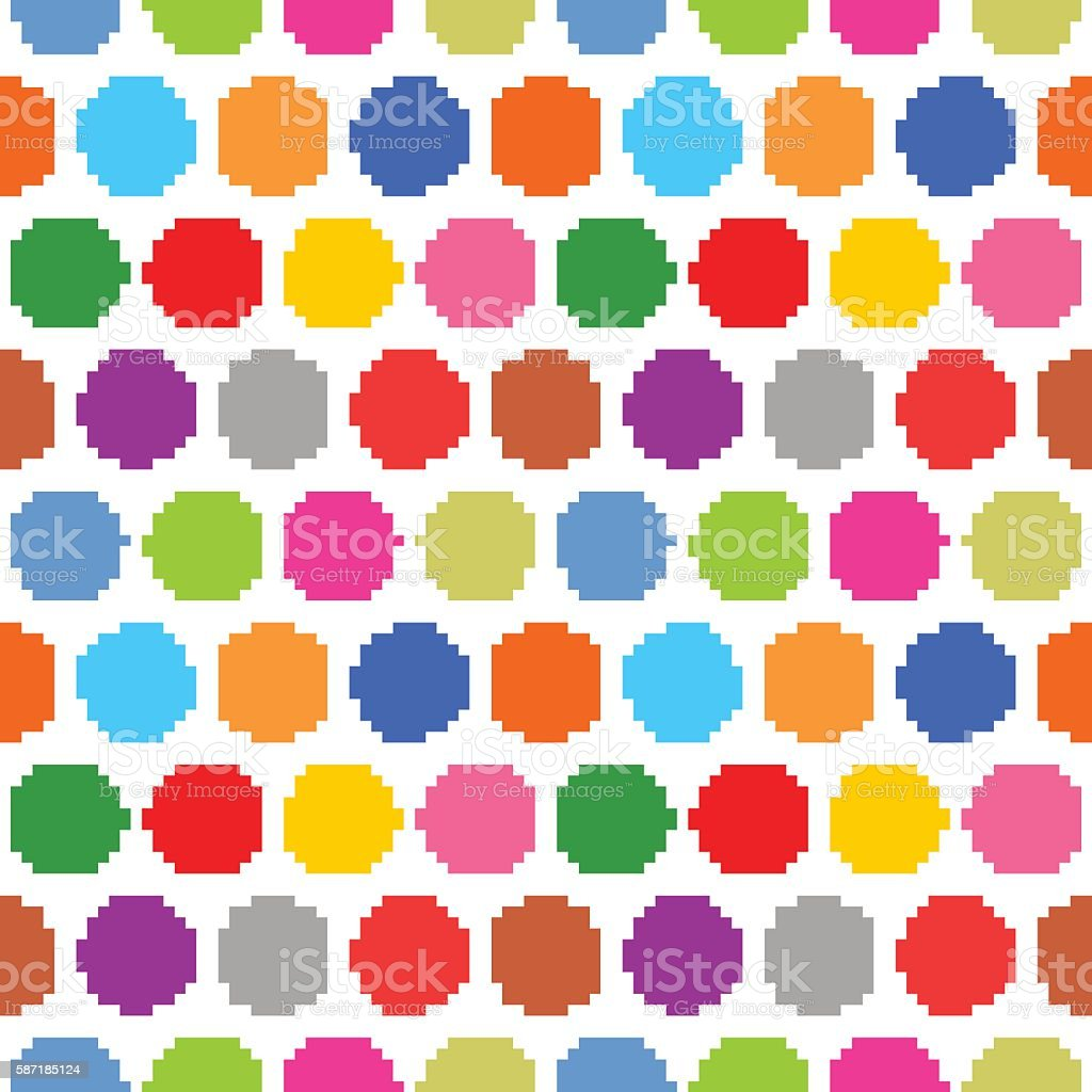 Seamless pattern polka dots on a white background vector art illustration