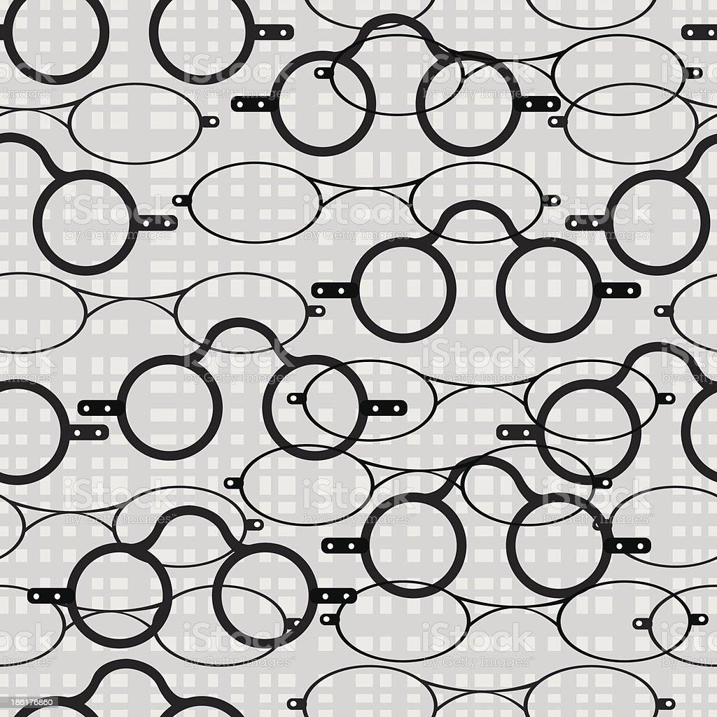 seamless pattern retro glasses royalty-free stock vector art