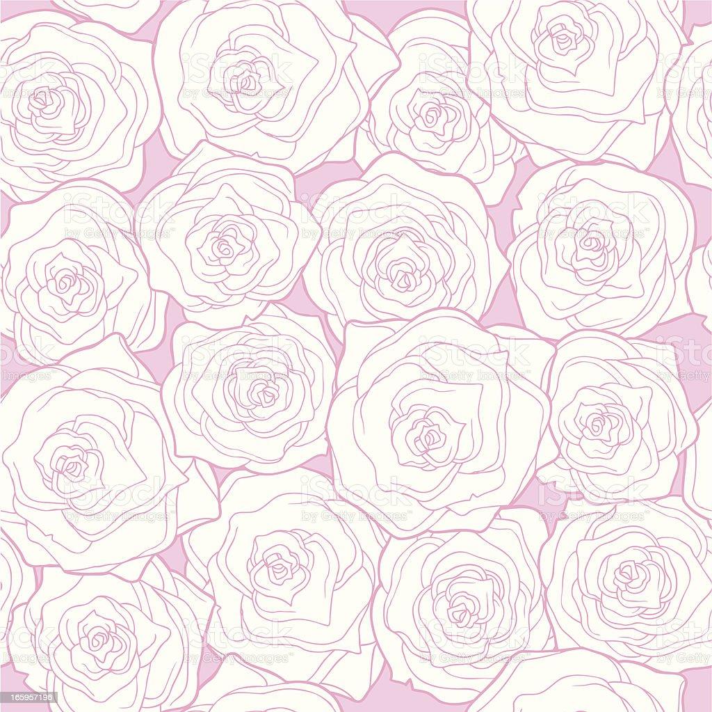 Seamless Pattern Roses vector art illustration