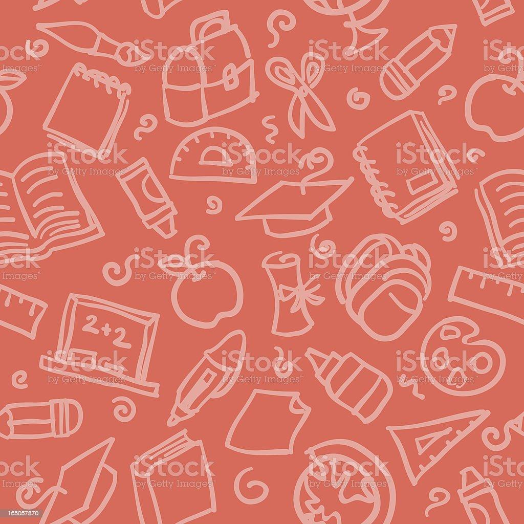 seamless pattern: school royalty-free stock vector art