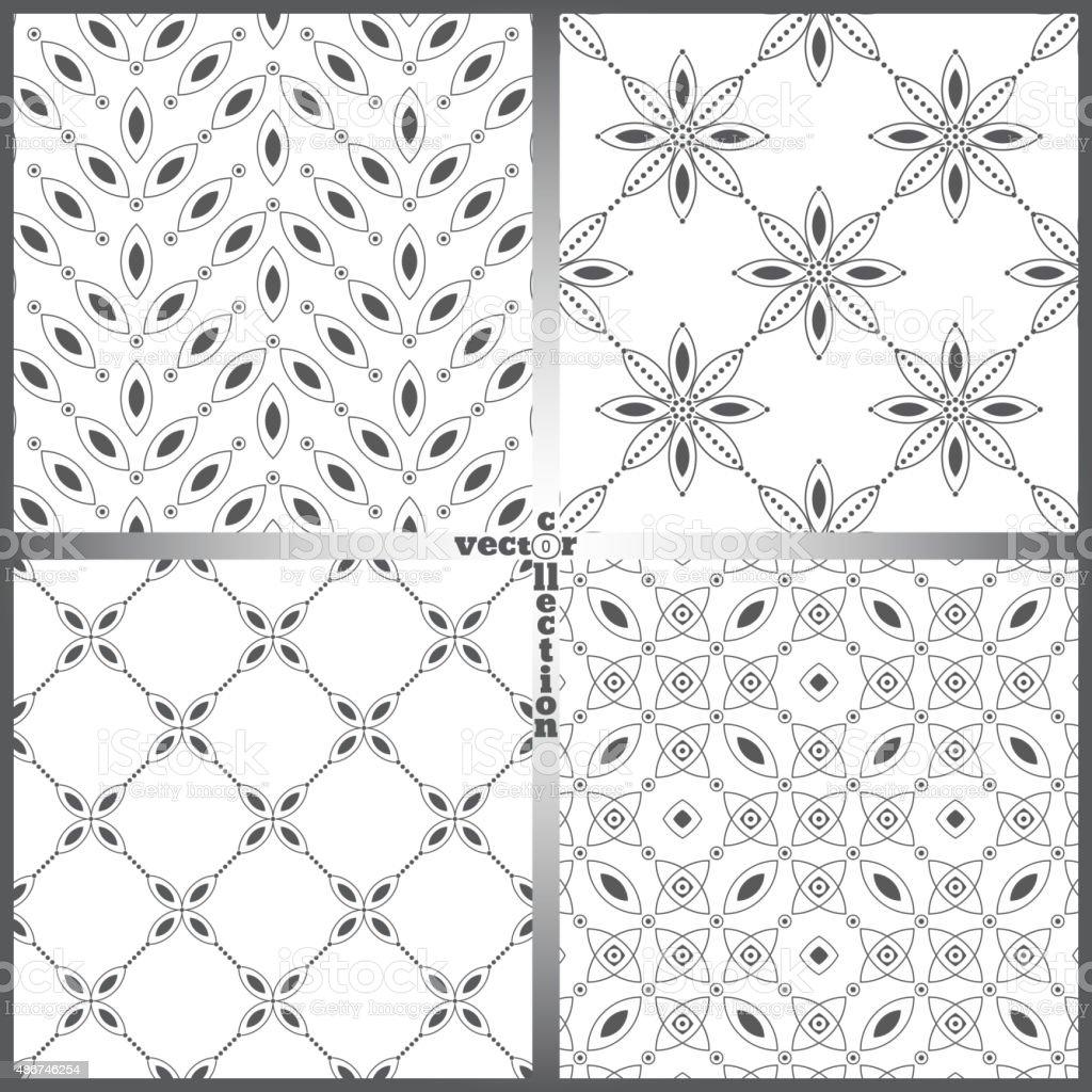Seamless pattern set vector art illustration