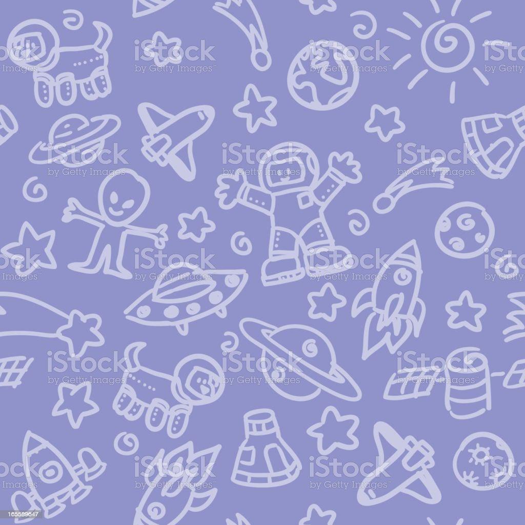 seamless pattern: space vector art illustration