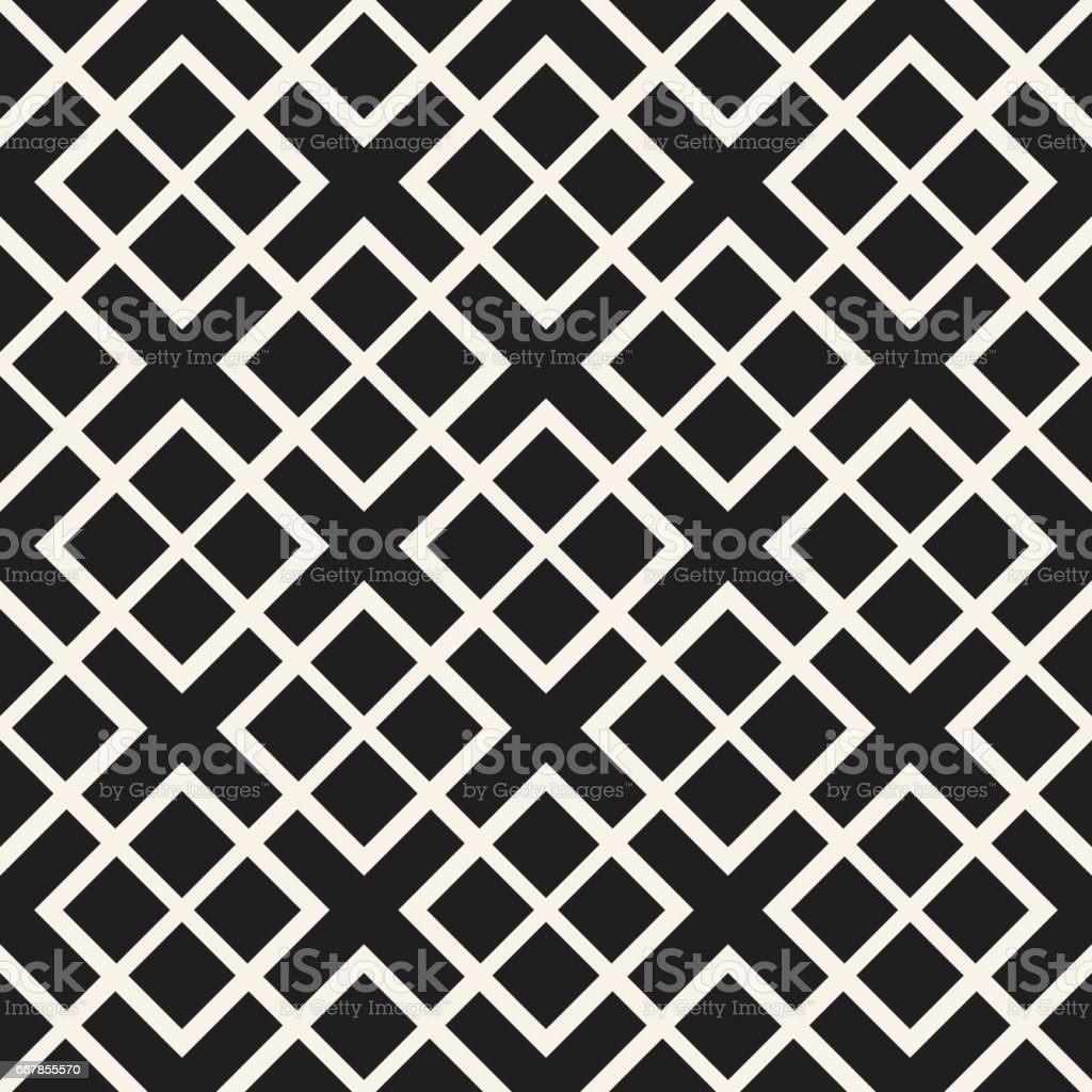 Seamless Pattern Squares. Vector Abstract Background. Stylish Geometric Linear Structure vector art illustration