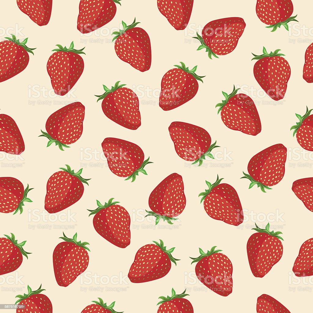 seamless pattern Strawberries royalty-free stock vector art