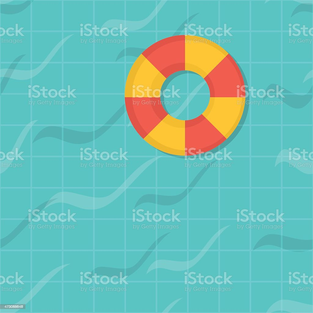 seamless pattern swimming pool. Top view. Flat design. vector art illustration