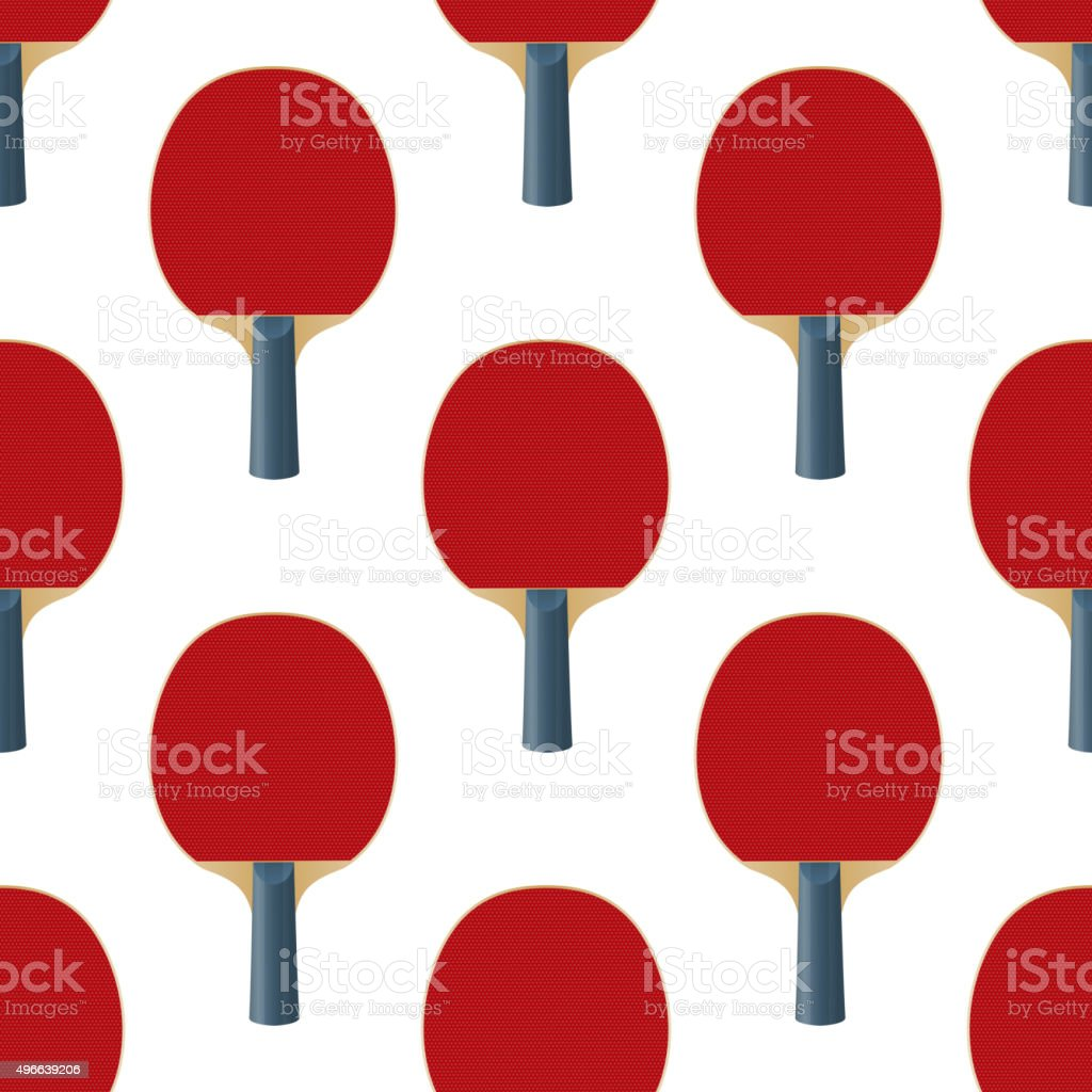 Seamless Pattern Table Tennis Rackets Vector vector art illustration