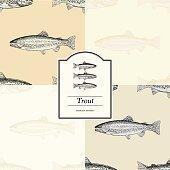 Seamless Pattern - Trout