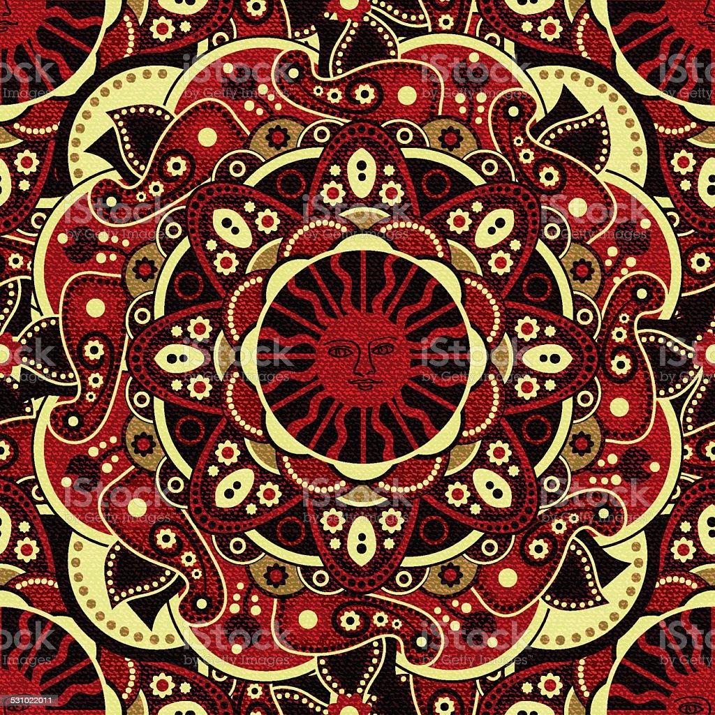 Seamless pattern vector art illustration