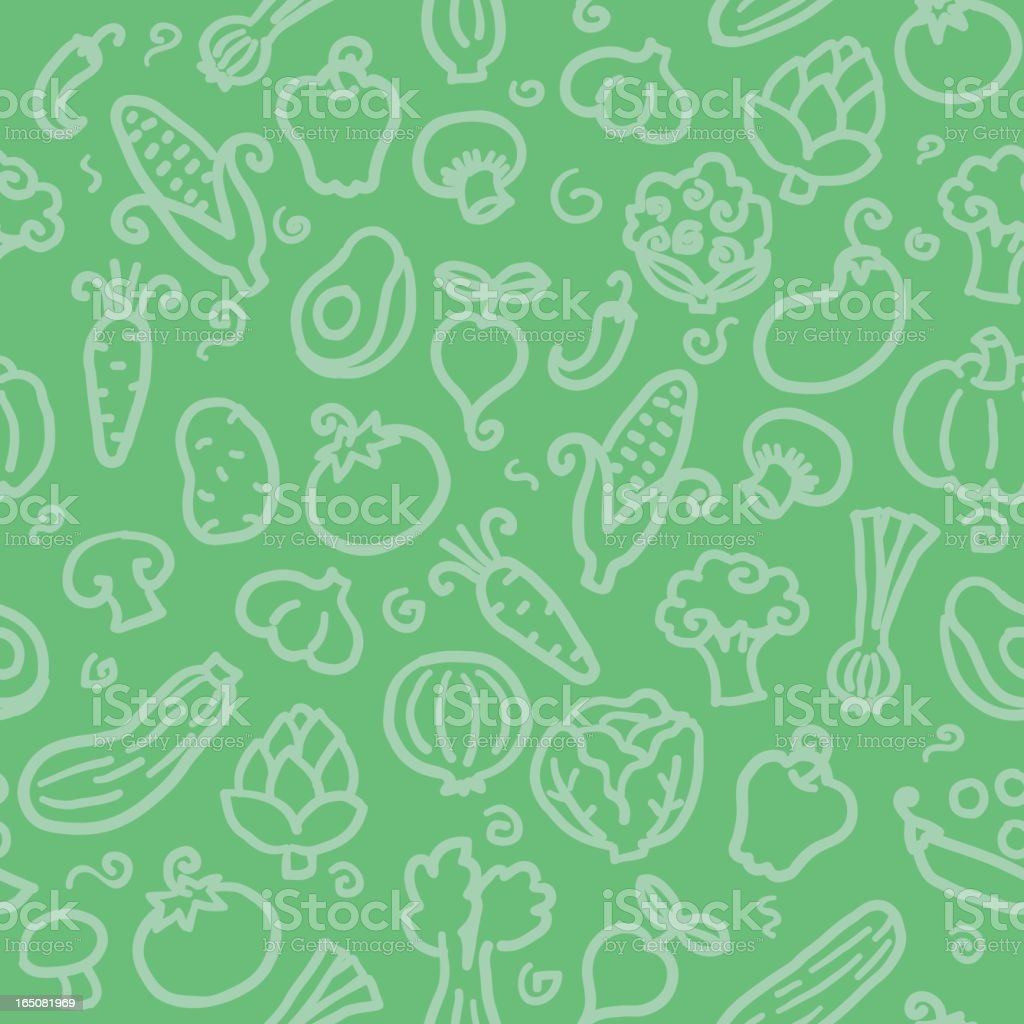 seamless pattern: veggies vector art illustration