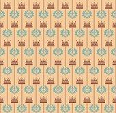 Seamless Pattern Vintage Wallpaper Art