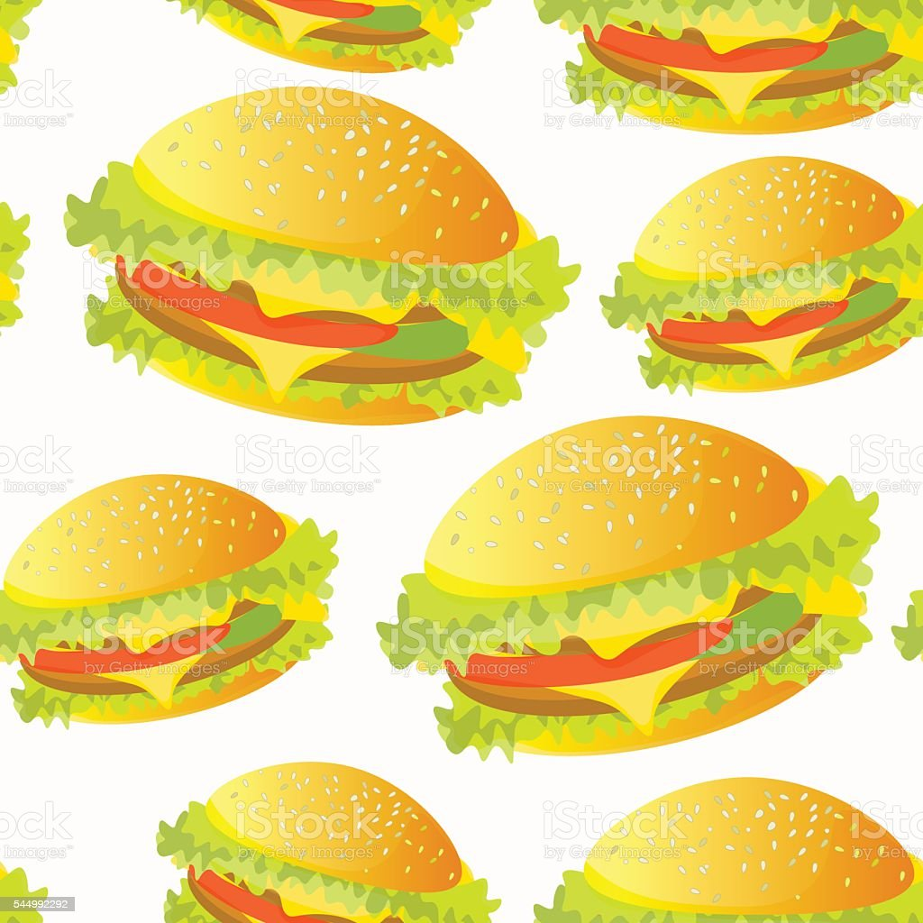 seamless pattern with a hamburger. vector illustration vector art illustration