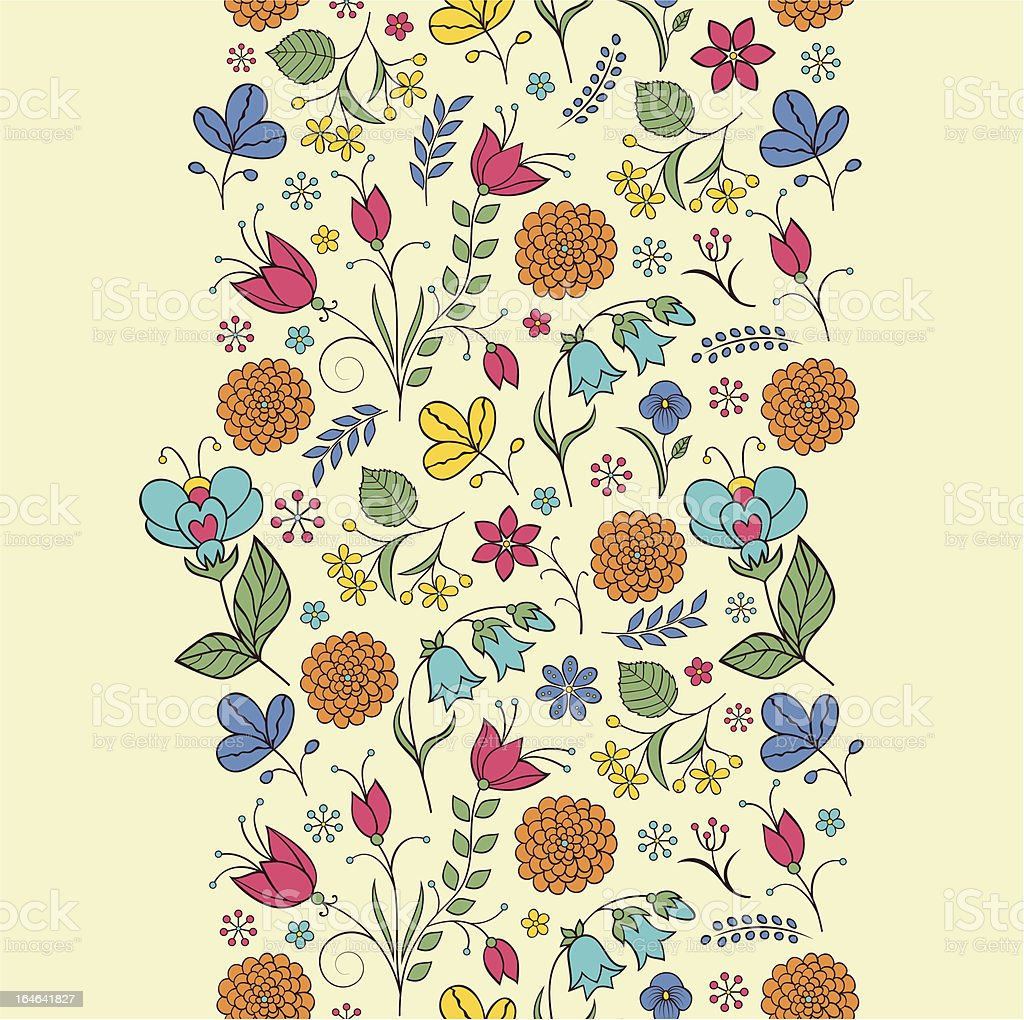 seamless pattern with abstract flowers.Floral background royalty-free stock vector art