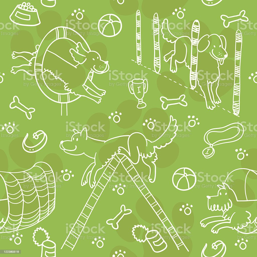 Seamless Pattern With Agility Training. royalty-free stock vector art