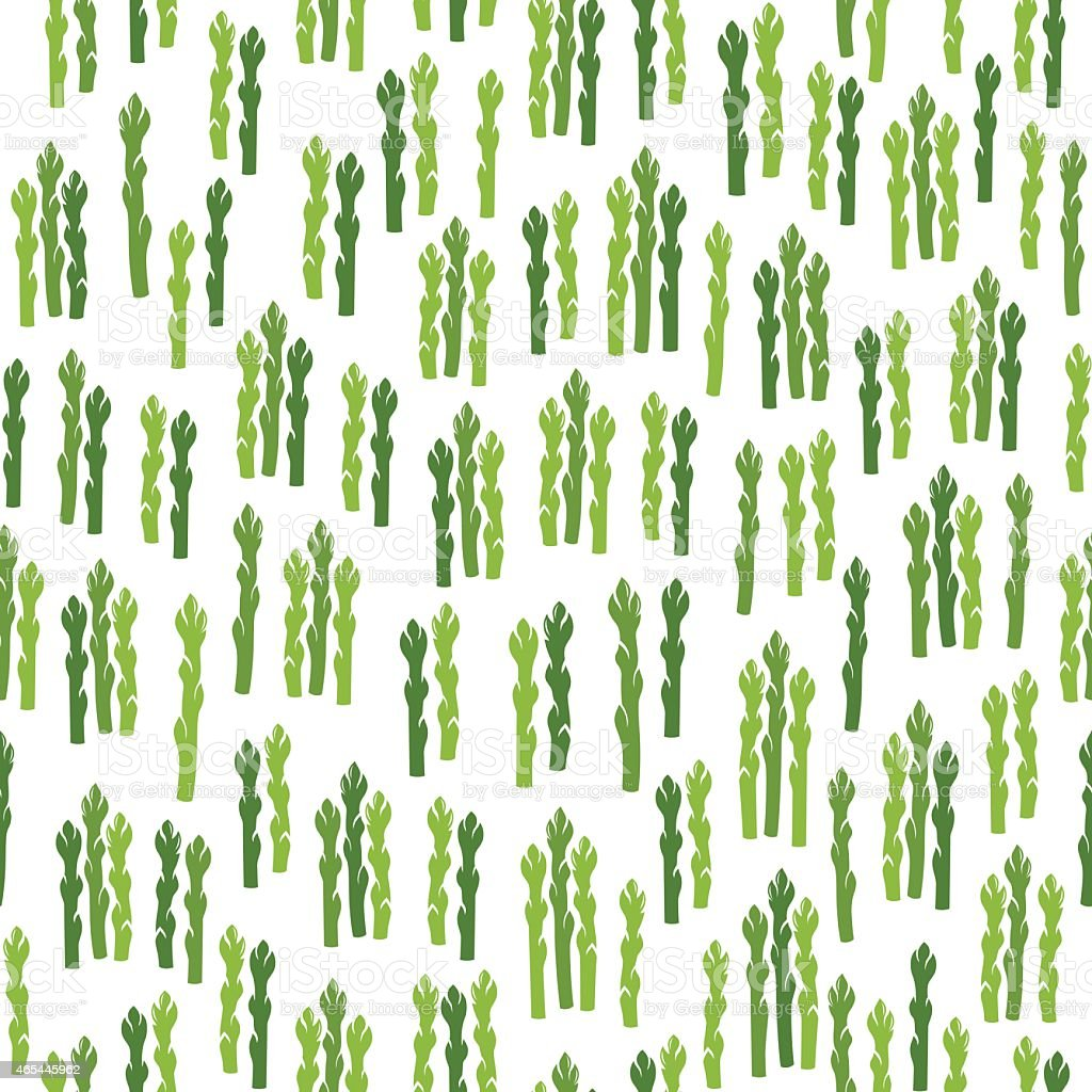 Seamless pattern with asparagus vector art illustration
