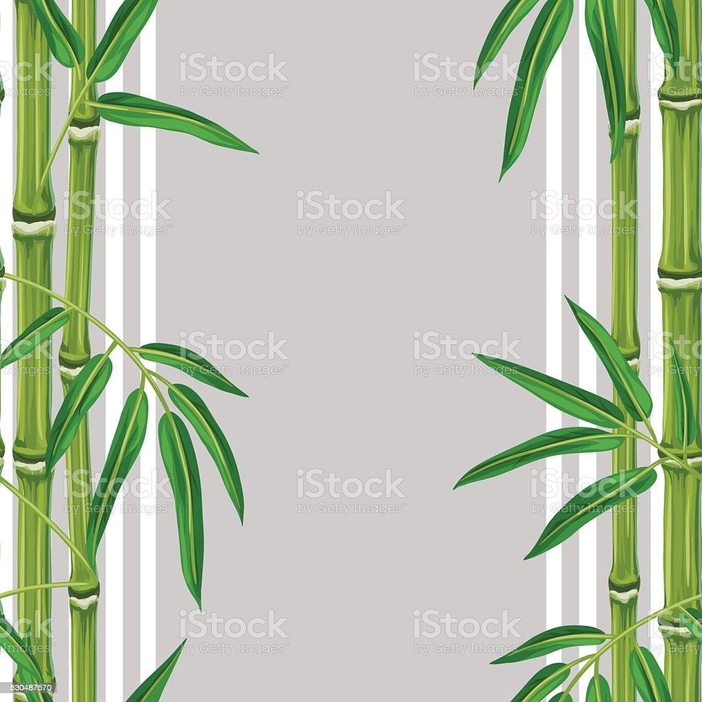 motif uniforme avec des plantes de bambou et de feuilles en sans arri replan stock vecteur. Black Bedroom Furniture Sets. Home Design Ideas