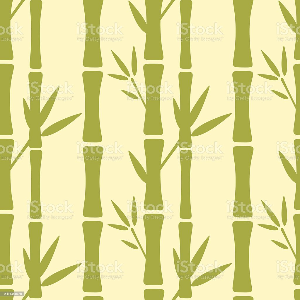 Seamless pattern with bamboo trees vector art illustration