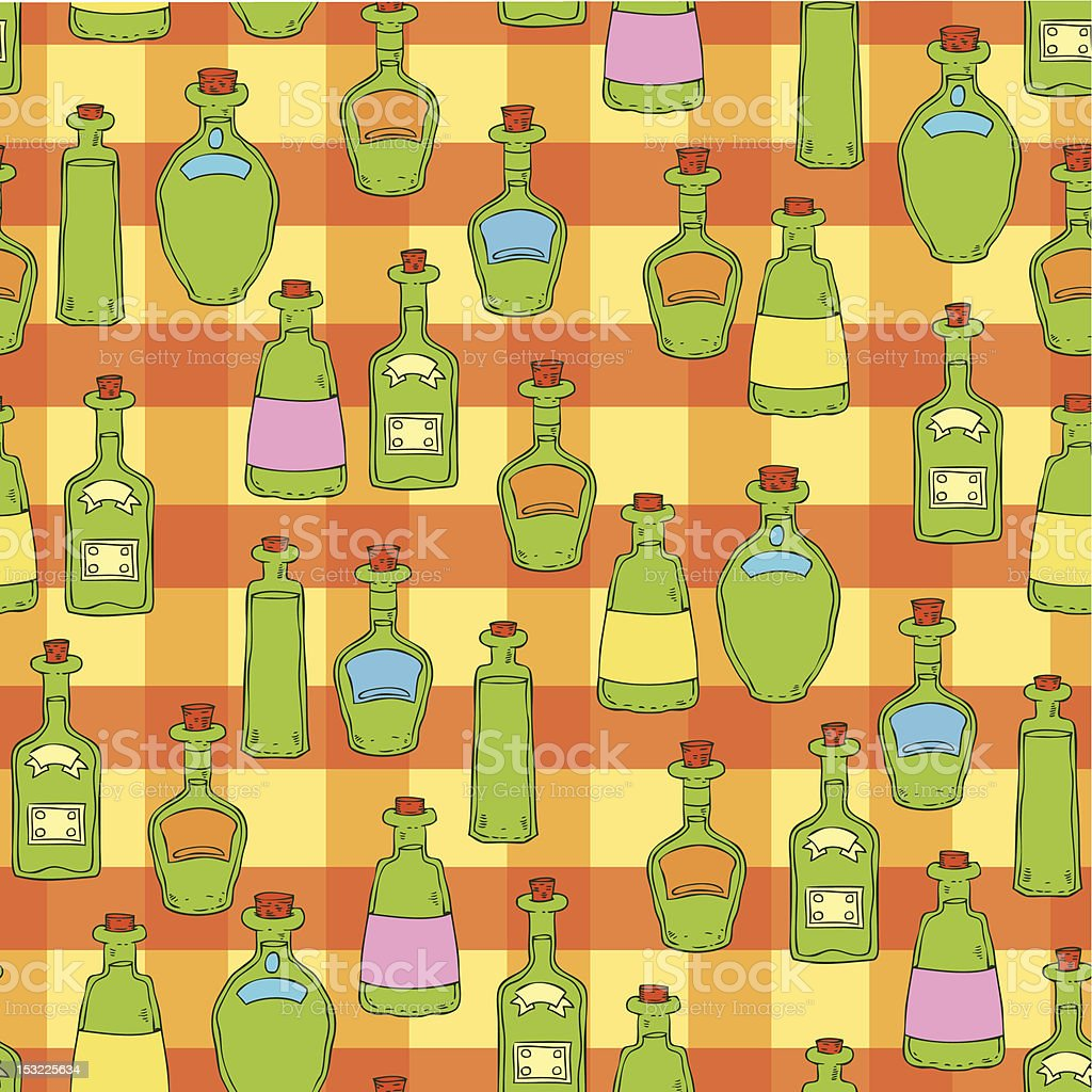 seamless pattern with bottles royalty-free stock vector art