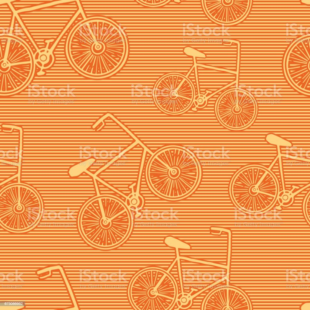 Seamless pattern with bycicles. vector art illustration