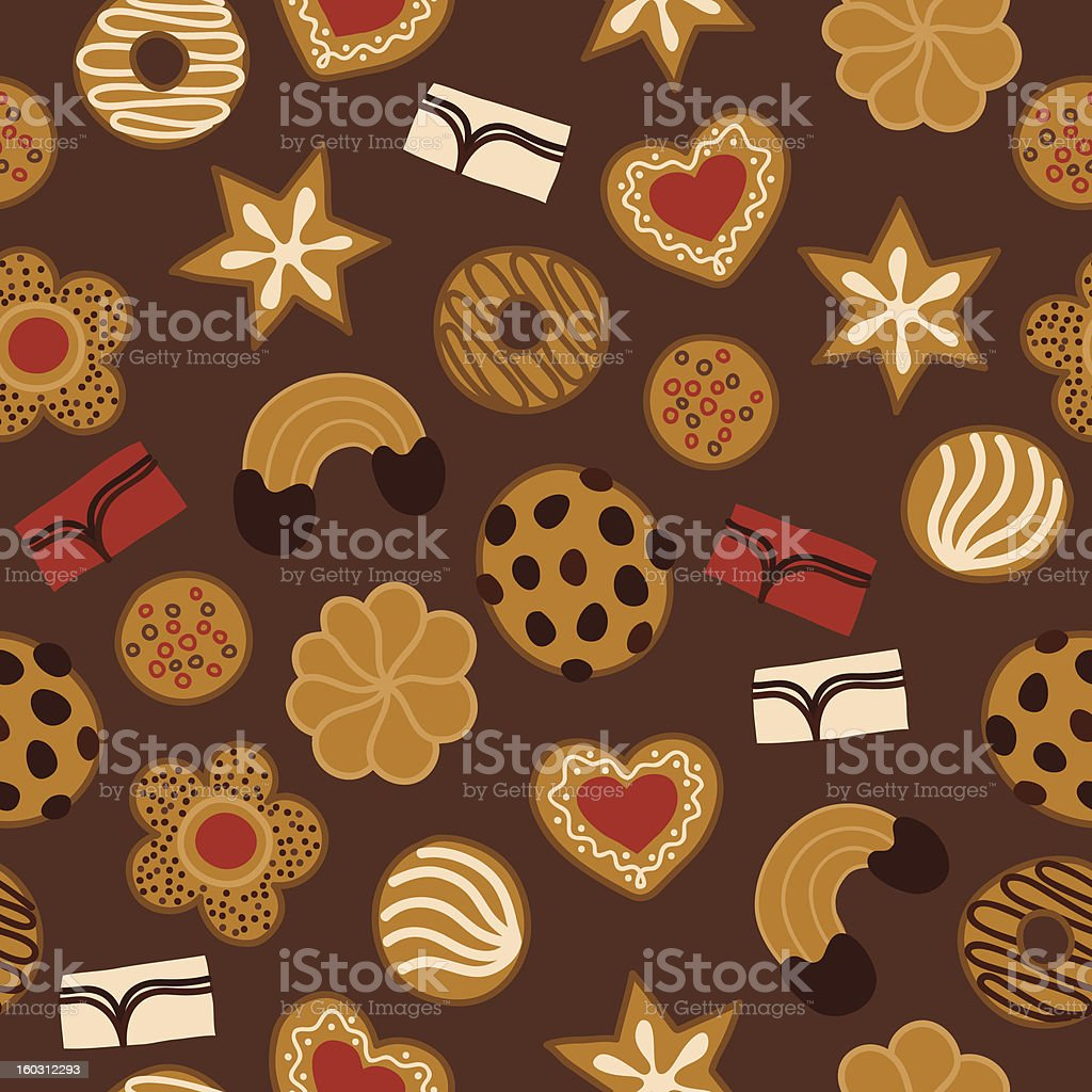 Seamless pattern with cakes royalty-free stock vector art